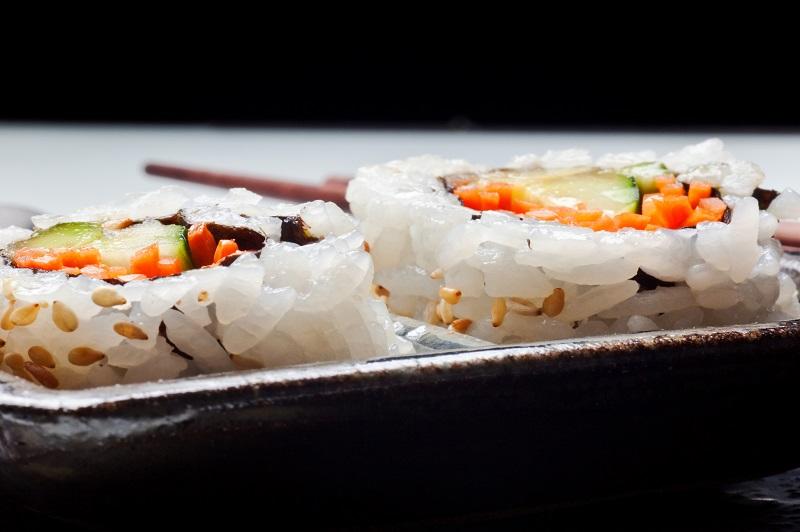 Rijst gekookt sushi